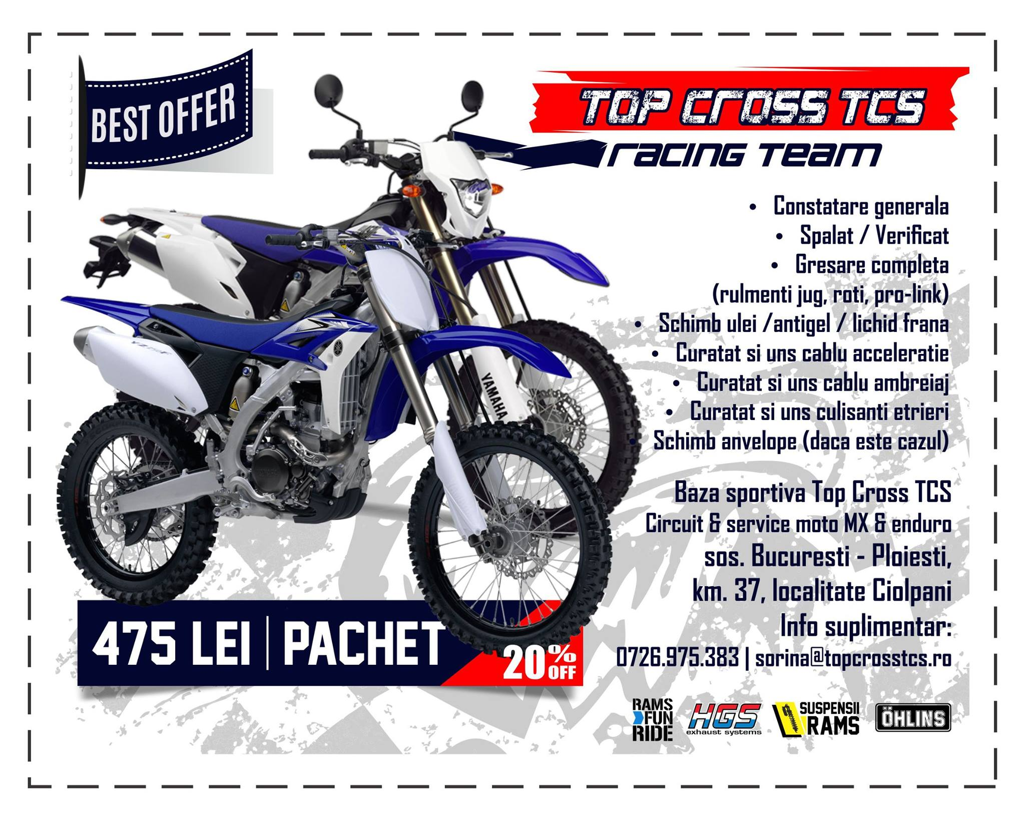 service motociclete pachet revizie