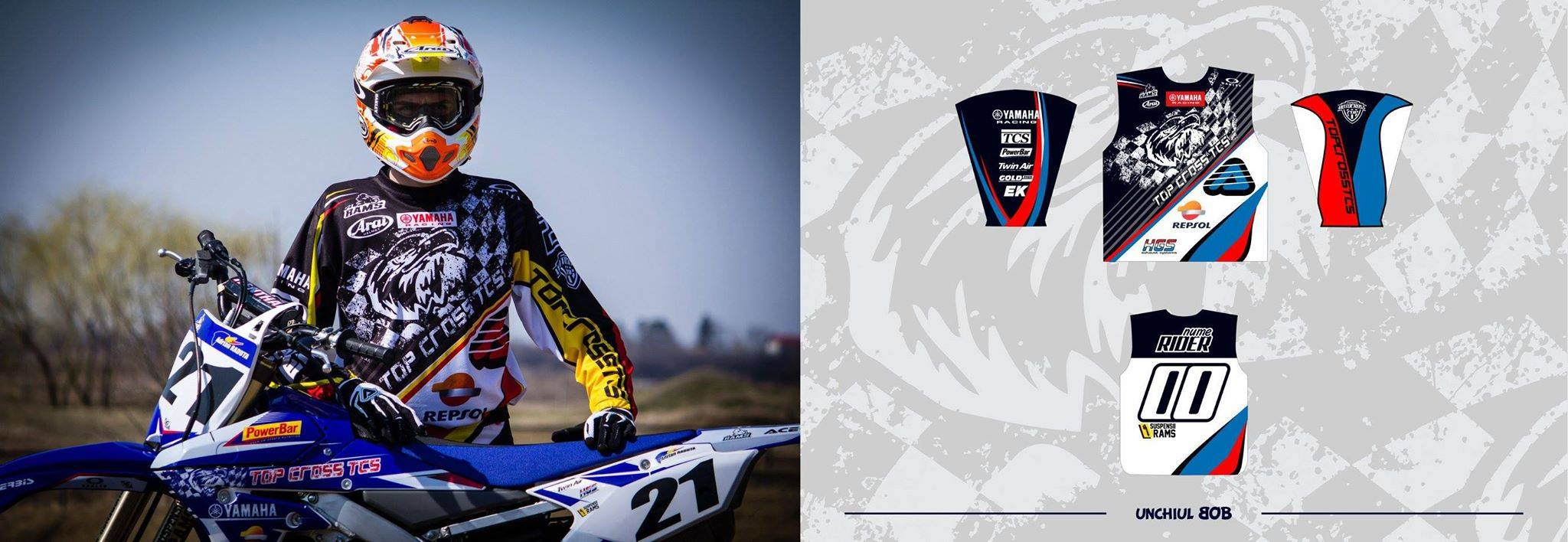 tricou motocross custom